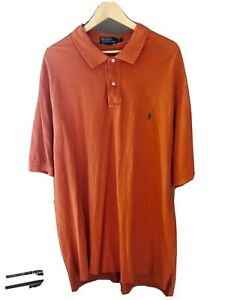 Polo Ralph Lauren Mens 2XLT Tall Orange Short Sleeve Shirt