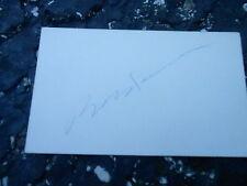 #MISC-3373 - 3x5 index card - signed auto - HOCKEY - BOB ROSSEAU