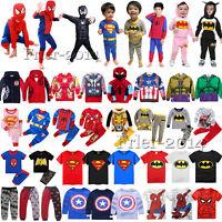 Kids Boys Girls Superhero Hoodies T-Shirt Pants Outfits Pajamas Cosplay Costume