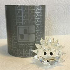 Vintage Swarovski Crystal Medium Hedgehog Var. 2 Retired Figurine