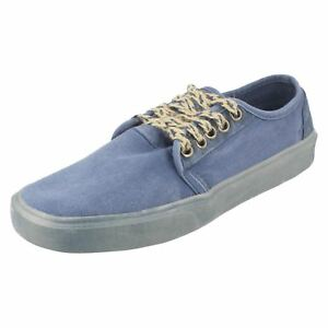 Sale Mens Hey Dude Casual Lace Up Canvas Shoes Buster Washed