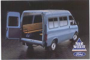 Ford Transit SWB 13 Seat Crewbus Original postcard FB 1445
