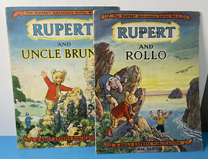 Rupert Adventure Series No.2 & No.3 Rupert And Rollo & Uncle Bruno DAILY EXPRESS