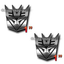 2-NEW Transformers DECEPTICONS Decepticon badge emblem Megatron CHROME PAIR MINI