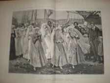 First Communion Dieppe France P R Morris print 1879