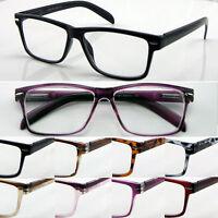 L141 Superb Quality Reading Glasses Spring Hinge Large Frame Modern Style Design