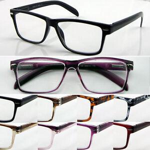 L141 Superb Quality Reading Glasses Spring Hinges Big Lens Modern Style Designed