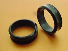 PAIR OF BLACK 1' 1/4 INCH 32MM PLUGS BODY JEWELRY TUNNELS