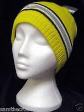 Nike Para Mujer señoras Polar Forrado Algodón nieve esquí Sombrero Amarillo auténtico