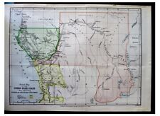 1885 Morgan - CONGO FREE STATE - Unexplored Land - COLOR MAP - 4
