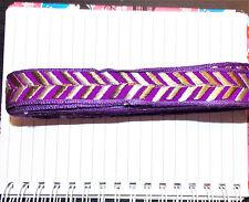1m 27mm purple jacquard embroidered ribbon lace applique trimming decor