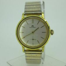 Vintage Bucherer Swiss Gold Plated and Stainless Steel Watch