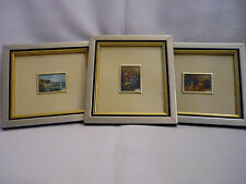 3 DIFFERENT PAINTINGS -HAND PAINTED ON ITALIAN SILVER PLATE - GIFT IDEA!