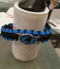 "Panthers NFL Survival bracelet Paracord 7""with zinc alloy shackle adjustable"