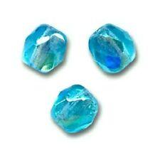 50 Perles Facettes cristal boheme 4mm - GREEN AQUAMARINE AB