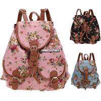 Fashion Women Girl Vintage Cute Canvas Floral Bag Bookbag Backpack Schoolbag New