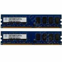 4GB 4G 2x2GB PC2-5300U DDR2-667MHz 240pin DIMM Desktop PC RAM Pour NANYA Neuf FR