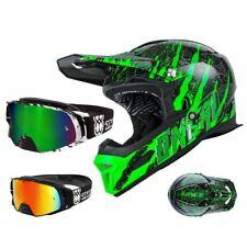 Oneal Fury Mercury Downhill Helm grün Mountainbike TWO-X Rocket Crossbrille