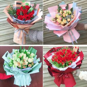 20pcs Waterproof Duplex Paper Flower Wrapping Packing Bouquet Wedding Decor UK