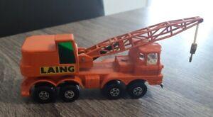 Matchbox Super Kings K-12 Mobile Crane Laing diecast Lesney 1971