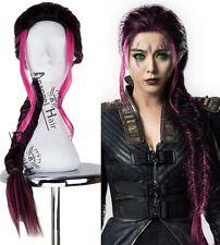 X-Men Blink Wig Clarice Ferguson Long Purple Wavy Synthetic Ponytail Hair+Cap