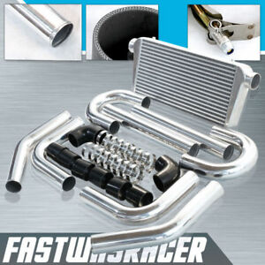 Universal Black Couplers 3.0'' Aluminum FMIC Intercooler Piping Kit 3.0 Inch BK