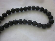 30 Black 8mm Natural Dyed Lava Beads #3348 Combine Post-See Listing