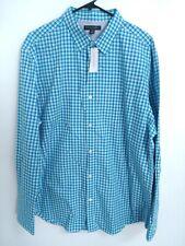 $64.50 Banana Republic Soft Wash Mens Size Xl Blue Plaid Button Up Dress Shirt