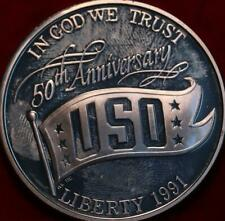 Uncirculated Proof 1991-S USO 50th Anniversary $1 Silver