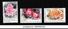 BELGIUM - 2005 GHENT FLOWER SHOW / ROSES SG#3898-3900 3V MNH