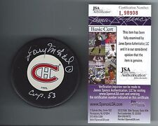 GERRY MCNEIL SIGNED MONTREAL CANADIENS PUCK JSA AUTHENTICATED