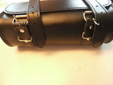 NEW DECADE CHASE 65440 LEATHER MOTORCYCLE HANDLERBAR BAG 120 CUBIC INCH CAPACITY