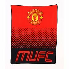 MANCHESTER UNITED Fleece Blanket Sherpa Throw Neck Cushion Birthday Christmas