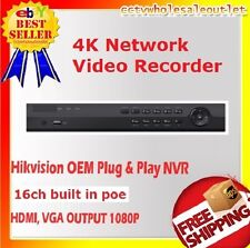 Hikvision(OEM) DS-7616NI-K2/16P(NR32P6-16) PLUG&PLAY NVR 16CH W/ 16 BUILT-IN POE