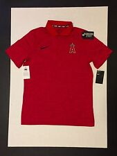 NIke MLB Los Angels Angels Polo Red Mens Size M
