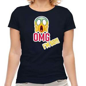 FUNNY 60TH SIXTIETH BIRTHDAY GIFT FOR WOMEN T-SHIRT LADIES OMG I'M 60 OLD MOM