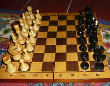 Vintage Chess set old Soviet Union Ussr Russian wooden souvenir game board 30x30
