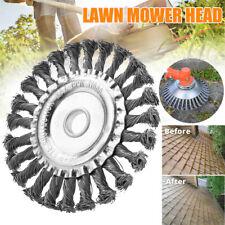 Lawn Grass Strimmer Head Trimmer Brush Solid Steel Wire Wheel Garden Weed UK