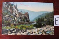 Postkarte Ansichtskarte Niedersachsen Lithografie Okertal Adlerklippe