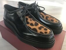 1,000$ Bally Black Dyson Leather Laces Up Shoes Size US 10 Made in Switzerland