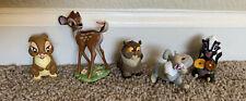Disney Store Exclusive Bambi Figure Set Thumper Flower Miss Bunny Figurines Lot