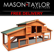 Mason Taylor 2 Storey Wooden Hutch Rabbit Chicken Coop Cage FF-GT-WOOD-R2100S