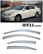 For 02-06 Lexus ES300 ES330 WellVisors Side Window Visors W/ Chrome Trim