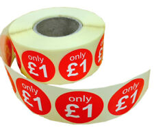 30mm Round Promotional Retail & Pricing Stickers - Only £1 - 1000 Per Roll