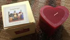 Longaberger Heart Shaped Pillar Candle Sweetheart 2001 New In Box Item #70124