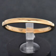 2mm Tungsten Gold Plated High Polish Classic Dome Top Women Wedding Band Ring TR
