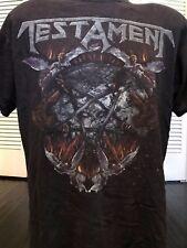 Testament Tour Shirt Sz L/XL Rock Exodus Ozzy Metal Slayer Metallica Priest Dio
