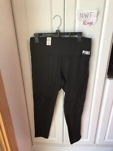 NWT Victoria Secret PINK XLarge Black Ultimate Leggings Last Pair!! Solid Black