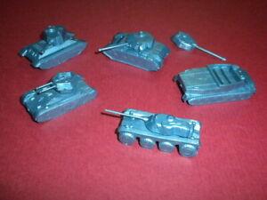 5 MINI RUSSIA/USSR FRENCH MILITARY/ARMY VEHICLES TANKS TRUCKS MPC LOT