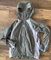 HELLY HANSEN Jacket Size Small GREEN   Winter Hooded Vented Helly Tech Rain Walk